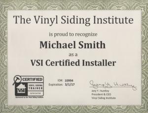 VSI Certified Installer
