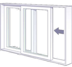 north knox slider window
